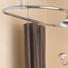 Sunrise Oval 58 Inch Shower Curtain Ring modern-bath-products