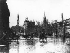 Flood in Victoria Square, Montreal, QC, 1886
