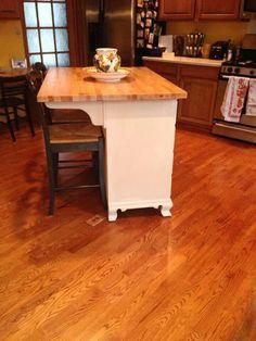 Dresser turned kitchen island | Refinishing Inspiration ...