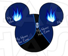 Hades Mickey Mouse ears head with INSTANT DOWNLOAD Christmas digital clip art DIY for shirt :: My Heart Has Ears