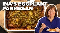 Cook Roasted Eggplant Parmesan with Ina Garten New Recipes, Cooking Recipes, Wing Recipes, Pasta Recipes, Vegetarian Recipes, Recipies, Food Network Recipes, Food Processor Recipes, Best Ina Garten Recipes