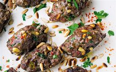 Kofta b'siniyah...earmarked for a delicious weekend meal (the other recipes look fab in the article as well).  Really love Yotam Ottolenghi's recipes.  He's teamed up with Sami Tamimi for these treats...