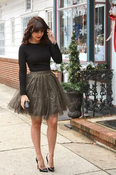 Black/gold shimmery net skirt
