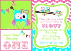 Hey, I found this really awesome Etsy listing at https://www.etsy.com/listing/152051402/owl-birthday-invitation-look-whoos