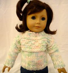 Pastel Doll Sweater American Girl Doll by PreciousBowtique on Etsy, $10.00