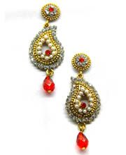 Ravishing Orange Earring Set