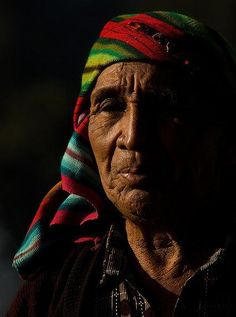 Shaman, Guatemala. Traditional medicine using spiritual energy, homeopathic remedies and wisdom of the elders is often the first treatment sought out by many in the lands of the Maya.