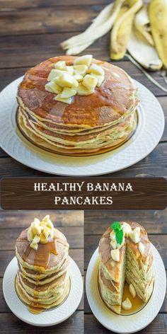 Healthy Banana Pancakes #Healthy #Banana #Pancakes Banana Pancakes, Juice, Roast, Tacos, Eggs, Breakfast, Healthy, Sweet, Food