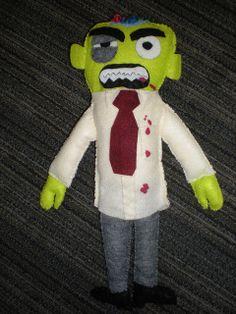 Felt Zombie by smmarrt, via Flickr