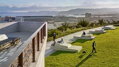 Hunters Point | Hillpoint Park - CMG Landscape Architecture San Francisco Bay, Central Park, Garden Bridge, Landscape Architecture, Outdoor Structures, Hunters, Outdoor Decor, Parks, Landscape Design