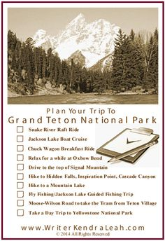 Grand Teton National Park Trip Planner - Must See Things to See and Do #GrandTetons