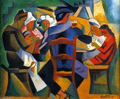 'Repas The Sailor', huile sur toile de Andre Lhote (1885-1962, France)