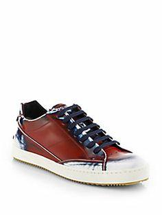 Fendi - Spraypaint Lace-Up Sneakers