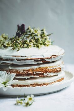 Delicious coconut cakes nestled between swirls of coconut yoghurt frosting. Not just for Vegans, this is a celebration cake everyone will love.