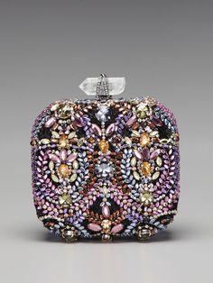 Hello, Sparkle! Betty Embroidered Box Clutch by Marchesa Handbags on Gilt.com