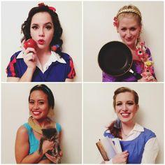 DIY Disney Princess #costumes #halloween #snowwhite #tangled #jasmine #belle #disney #diy