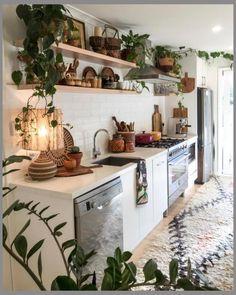 12 Beautiful Bohemian Style Kitchen Decoration Ideas ~ My Dream Home Interior Modern, Interior Design Kitchen, Interior Designing, Interior Design Plants, Casa Hipster, Küchen Design, House Design, Design Ideas, Garden Design