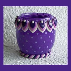 Plum Candle Holder by RFColorfulCreations on Etsy, $9.00