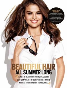 Selena Gomez picture for Pantene inside Cosmopolitan Australia Magazine [February Selena Gomez Photoshoot, Selena Selena, Selena Gomez Pictures, Marie Gomez, Video New, Pop Singers, My Princess, Summer Hairstyles, Your Hair