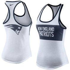New England Patriots Nike Women's Performance Tank Top - White $33.95