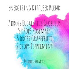 Energizing Essential Oils Diffuser Blend ••• Buy dōTERRA essential oils online at www.mydoterra.com/suzysholar, or contact me suzy.sholar@gmail.com for more info.