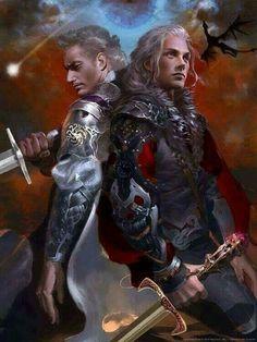 Arthur Dayne was Prince Rhaegar's closest friend. He was the brother of Lady Ashara Dayne an Lady Allyria Dayne. His nephew, the son of Arthur's unknown older brother, is Lord Edric Dayne. Arthur Dayne, Rhaegar And Lyanna, Prince Rhaegar Targaryen, Arte Game Of Thrones, Game Of Thrones Artwork, Character Inspiration, Character Art, Character Design, Rheagar Targaryen