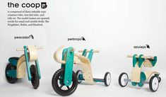 The Coop Toy Line by Federico Rios is Incredibly Eco-Friendly #bicycle #accessories trendhunter.com