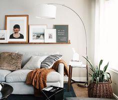 love that shelf above the sofa | instagram pic credit : @chrislovesjulia