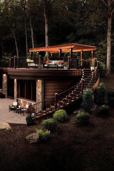 in ground tiny house with roof deck