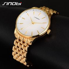 2016 New SINOBI Luxury Watch Men Quartz-Watch Brand Male Watch Black Full Steel Men's Watches Waterproof Clock Relogio Masculino #Affiliate