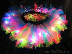 Rainbow Tutu Light Up Tutu EDM EDC Rave Club Wear by tutufactory