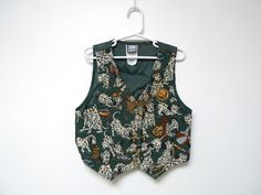 101 DALMATIANS .  dark green vest . kids size 6x . made in USA by june22 on Etsy