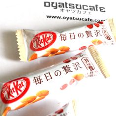 "Kit-Kat ""Daily Extravagance"" is inspired by the luxury Kit-Kat Chocolatory in Tokyo. Carefully crafted with almond, raspberry and rich creamy chocolate to produce a truly inspired flavor.  Get yours today at oyatsucafe.com"