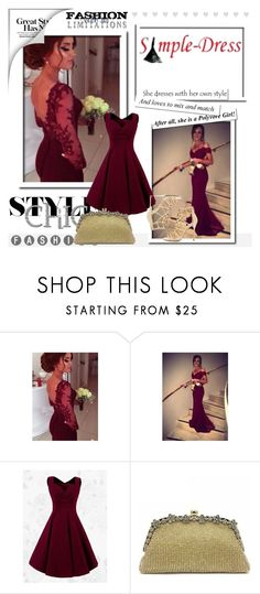 """Simple-dress 3"" by almir-sahdan ❤ liked on Polyvore featuring Sergio Rossi and simpledress"