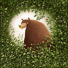Digital art selected for the Daily Inspiration #1483.   Love this..  Does the bear......?
