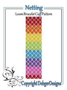 Netting - Loom Bracelet Cuff Pattern