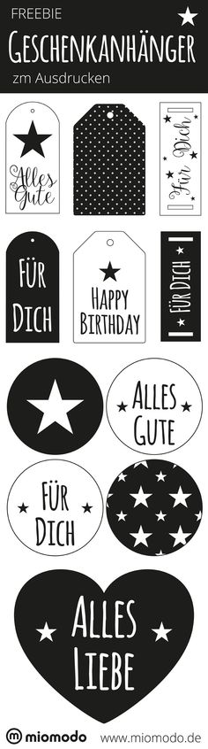 Gift Wrapping Gift tags for printing Diy Presents, Diy Gifts, Printable Labels, Free Printables, Freebies By Mail, Silhouette Curio, Free Prints, Print And Cut, Print Print
