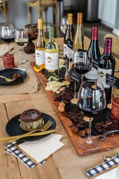 Gather your girl friends for a decadent wine and chocolate pairing tasting party. Try these tips to ensure your relaxing Girls Night In Wine & Tasting Party is an instant success! Wine And Cheese Party, Wine Tasting Party, Wine Cheese, Cheese Food, Sweet Champagne Brands, Animation Soiree, Wein Parties, Pinot Noir, Chateauneuf Du Pape
