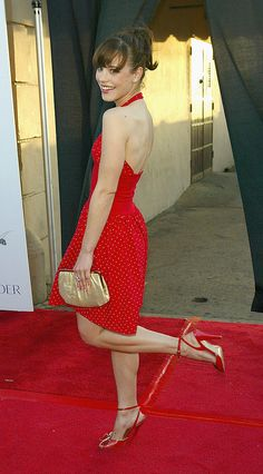 Rachel McAdams: Rachel showed off a cherry-red dress and a bright smile at the Movieline Young Hollywood Awards in 2004.