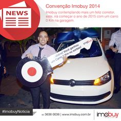 Parabéns ao corretor Iron Júnior que foi contemplado com um carro 0 km na Convenção Imobuy 2014. Sucesso!!