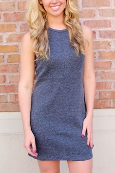 Fitted Knit Dress - View #1