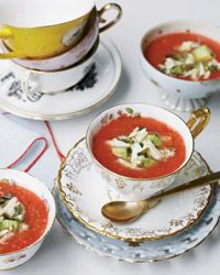 Spicy Tomato and Watermelon Gazpacho with Crab // More Beautiful Dishes: http://fandw.me/qHV #foodandwine