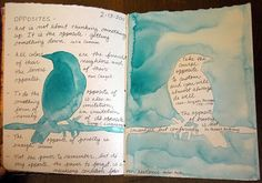 RAEvN's Nest: Sketchbook Challenge - Opposites by Kim Rae Nugent Art Journal Pages, Journal D'art, Art Journals, Journal Ideas, Visual Journals, Sketchbook Challenge, Art Sketchbook, Art Postal, Art Et Illustration