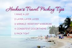Henkaa's Travel Packing Tips www.henkaa.com