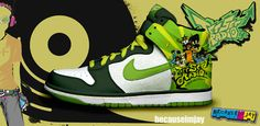 Jet Set Radio Nike sneakers Video Game Development, Software Development, Jet Set Radio, Sega Dreamcast, Air Jordans, Product Launch, Annual Reports, Sneakers Nike, Owls
