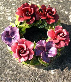 Ceramic cemetary flowers