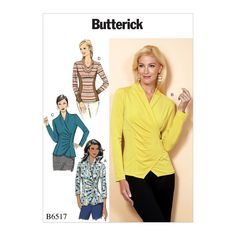 Misses Blouse Butterick Pattern 5538 Blouses Mccalls Patterns