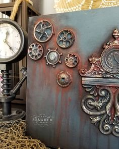 """@brushedbybrandy on Instagram: """"Steampunk in stormy seas and rusty nail  #dixiebellepaint #dixiebelle #bestpaintonplanetearth #bestdangwax #brushedbybrandy…"""" Orange Painted Furniture, Chalk Paint Furniture, Home Decor Trends, Home Decor Styles, Stormy Sea, Dixie Belle Paint, Mineral Paint, Diy Christmas Gifts, Beautiful Artwork"""