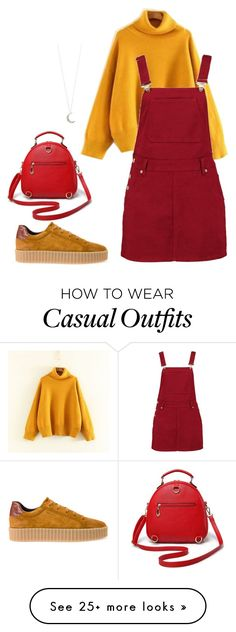 """""""auntumn casual outfit"""" by bileee on Polyvore featuring Boohoo, Geox and Accessorize"""