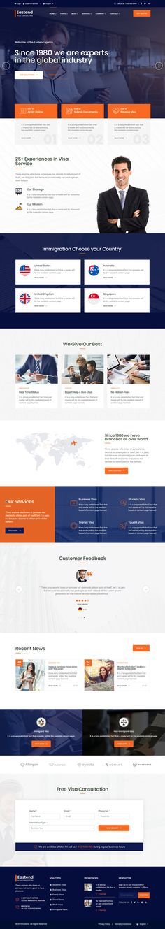 Visa Consulting HTML Website Template
